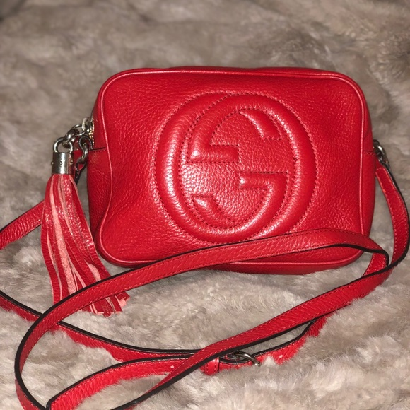 6e51a08bc352 Gucci Bags | Soho Disco Red Crossbody Bag Authentic | Poshmark